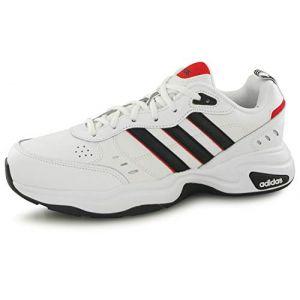Adidas Strutter Chaussures de Course pour Homme - Blanc Noir Rouge, 43 1/3 EU