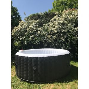 """Ospazia """"Spa gonflable Rattan - 6 personnes"""""""