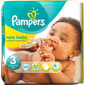Pampers New Baby taille 3 Midi 4-7 kg - 29 couches