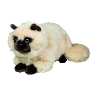 Hermann Teddy Peluche chat Siamois couché 36 cm