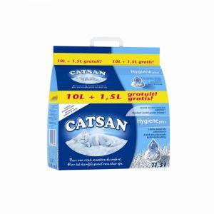 Catsan Hygiène Plus 10 L + 1,5 L - Litière pour chat