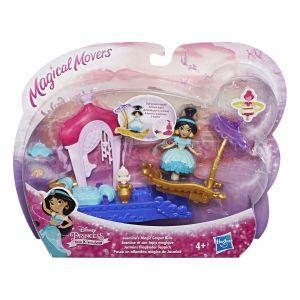 Hasbro Disney Princesses - Mini poupée mouvement magique - Jasmine et son tapis volant
