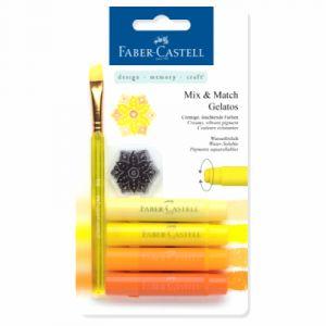 Faber-Castell Crayons Gelatos 4 nuances de jaune