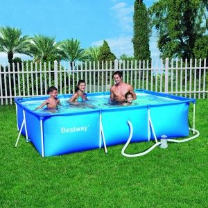 Intex 58981fr Piscine Hors Sol Tubulaire Rectangulaire Metal Frame
