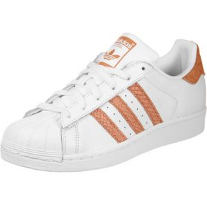 Adidas Superstar Blanche Et Orange Baskets/Tennis Femme