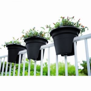 Elho 2055544 Green Basics Pont De Fleurs Noir 30 X 30 X 23 Cm