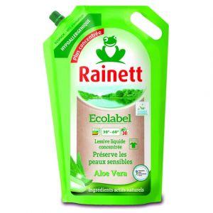 Rainett Lessive Liquide Concentrée Ecologique Aloé Vera - 2 Recharges de 1,98 L