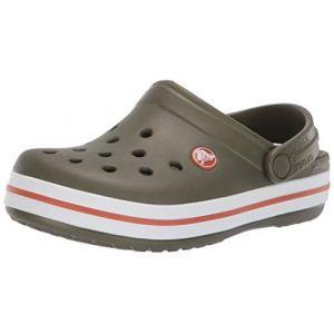 Crocs Crocband Clog, Sabots Mixte Enfant, Vert (Army Green/Burnt Sienna) 25/26 EU