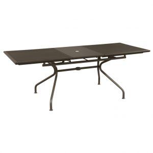 Petite table fixe Athéna marron d%u2019Inde 160/210 x 90 x 75 cm