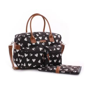 Kidzroom Black and White Diaperbag - Sac et tapis à langer