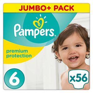 Pampers Premium Protection - Couches Taille 6 (15+ kg) - Jumbo+ Pack x56