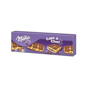 Milka Gâteau moelleux aux pépites de chocolat au lait du pays alpin et fourrés au chocolat