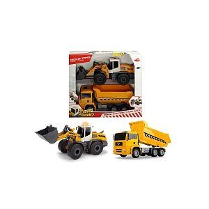 Dickie Toys Coffret 2 véhicules de construction 28-30cm