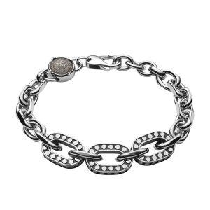 Diesel Bracelet Bijoux STUDS DX1166040 - Bracelet Acier Argent HOMME