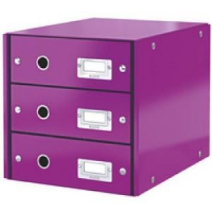 Leitz Bloc de classement à tiroirs Click & Store Violet