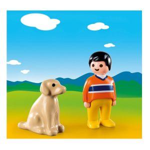 Playmobil 9256 - 1.2.3 - Garçon avec chien