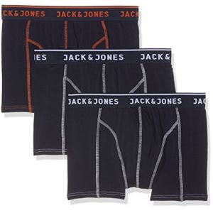 Jack & Jones Lot de 3 Boxers Homme Matt - Bleu Marine - M - Bleu