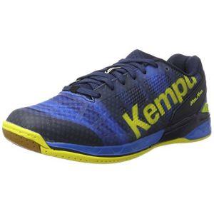 Kettler Kempa Attack One, Chaussures de Handball Homme, Bleu (Bleu Profond/Jaune Citron), 44.5 EU