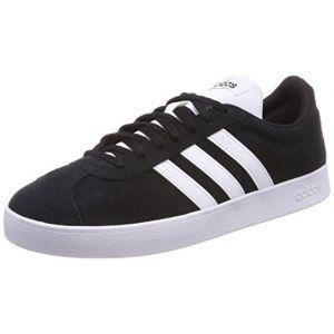 Adidas VL Court 2.0, Chaussures de Fitness Homme, Noir (Negbas/Ftwbla 000), 41 1/3 EU