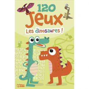 Editions Lito 120 Jeux Les Dinosaures Bloc d'Activités 6 ans