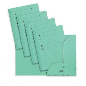 Elba 100090072 - Sous-dossier OAZ chemise HV 2 rabats, lot de 25, A4 kraft vert clair