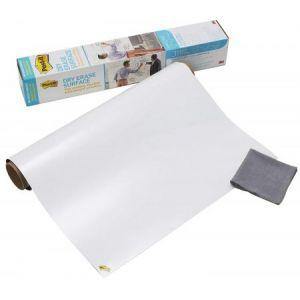 Post-It DEF8x4-EU - Tableau blanc en rouleau, 121,9 x 243,8mm, adhésif et effaçable (BP1002)