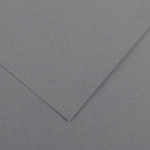 Canson 200040389 - Feuille Iris Vivaldi 50x65 240g/m², coloris gris foncé 36