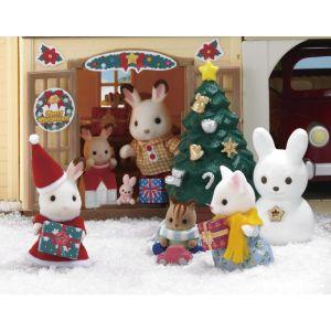 Epoch 2225 - Coffret Noël Soeur lapin choco Sylvanian Families