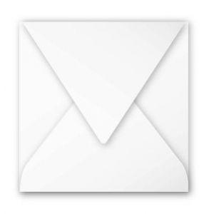 Clairefontaine 12016C - Enveloppe Pollen 120x120, 120 g/m², coloris blanc, en paquet cellophané de 20