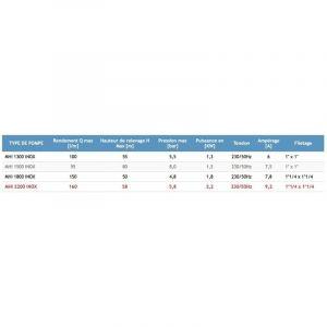 Omni Pompe d'arrosage POMPE DE JARDIN pour puits 1800W 150l/min avec ballon surpresseur50L INOX