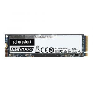 Kingston KC2000 - Disque SSD - chiffré - 500 Go - interne - M.2 2280 - PCI Express 3.0 x4 (NVMe) - AES 256 bits - TCG Opal Encryption 2.0