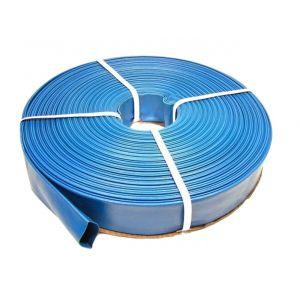DCRAFT   Tuyau plat refoulement 100 M Diamètre 1   Tuyau enroulable pour motopompe distribution l'eau claire sale fosse septique   Bleu TROUV