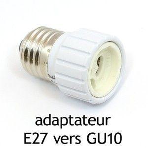 Vision-El Adaptateur culot E27 vers GU10 -