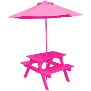 Table pic-nique avec parasol Poupon - Fushia