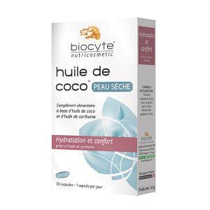 Biocyte Huile de Coco pour peau sèche, 30 capsules
