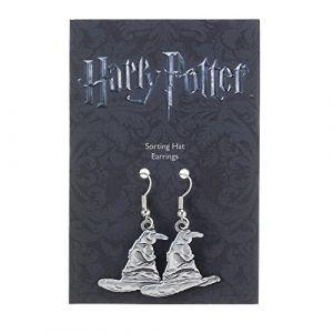 Harry Potter boucles d´oreille plaqué argent Sorting Hat