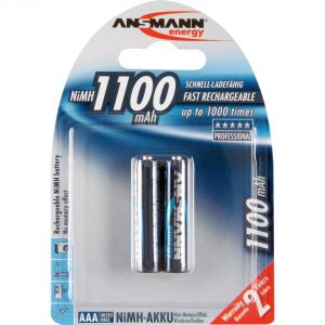 Ansmann Pile rechargeable LR03 AAA Ni-Mh 1100 mAh x2
