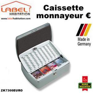 Burg-Wächter Caissette à monnayeur Business ZK7300EURO