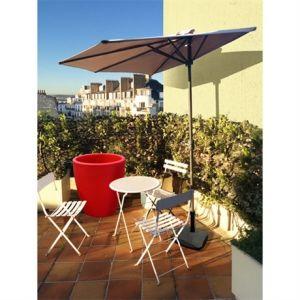 City green Cuba - Demi-parasol à manivelle pour balcon