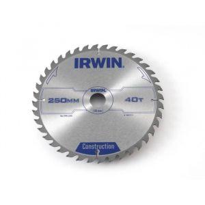 Irwin Lames de scie circulaire construction 250 x 30 x 3 mm 40 dents