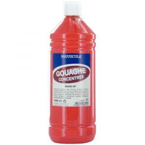 Majuscule Gouache liquide superieur rouge vif - Flacon de 1L