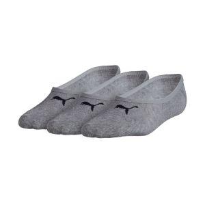 Puma Lot de 3 paires de chaussettes Footie Gris - Taille 43-46