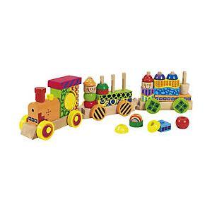 Eichhorn Train musical coloré avec fonction son et lumière 28 pièces