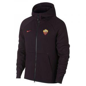 Nike Sweat à capuche entièrement zippé A.S. Roma Tech Fleece pour Homme - Rouge - Taille XL