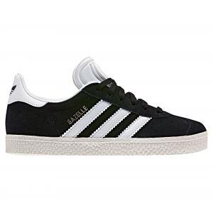 Adidas Gazelle C, Baskets Basses Mixte Enfant, Noir (Core Black/FTWR White/Gold Metallic), 31 EU