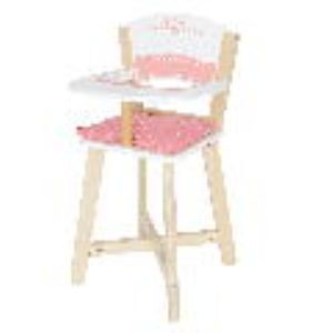 Hape Chaise haute en bois pour poupon