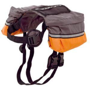 Ferplast Sac à dos pour chien Dog Scout - Taupe et orange - TU