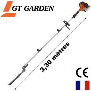 GT Garden TH-PERCHE - Taille-haies thermique sur perche 52cc 3CV longueur 3,30 mètres