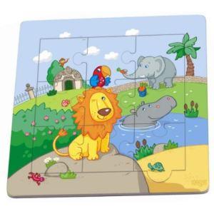Haba Puzzle cadre : Les amis du lion 9 pièces