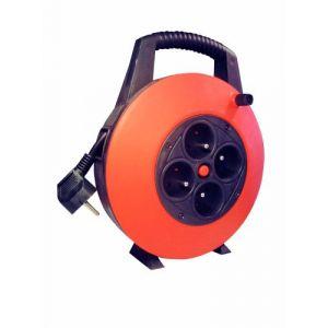 Voltman Enrouleur électrique bricolage HO5VVF 3x1mm2 7,5 m